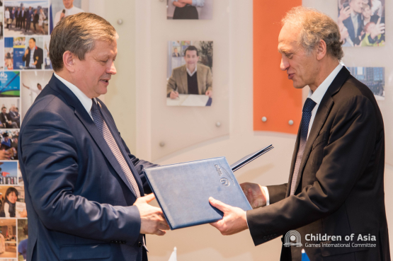 Children of Asia Games International Committee and Russian International Olympic University To Cooperate